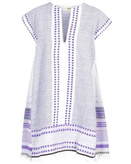 Yeshi Purple Cotton Blend Kaftan