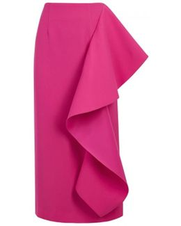 Maude Fuchsia Ruffled Skirt