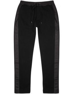 Black Shell And Jersey Jogging Trousers