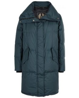 Rowlock Teal Quilted Shell Coat