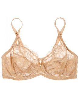 Chrystalle Sand Lace Bra