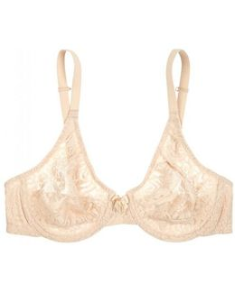 Halo Almond Underwired Lace Bra