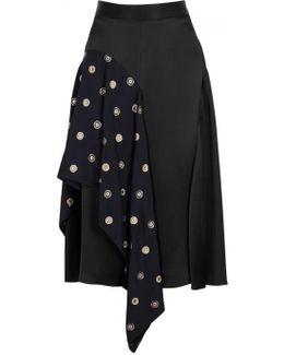 Bobbi Flared Brocade And Satin Skirt