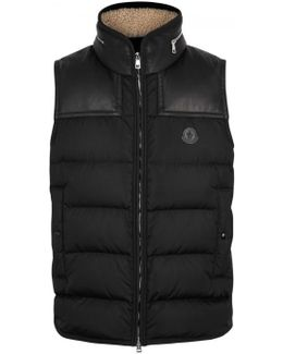 Millais Leather-trimmed Shell Gilet