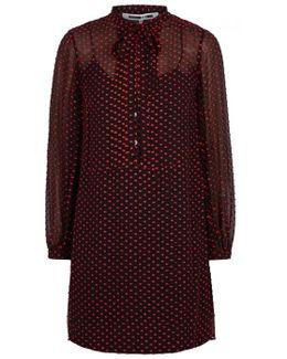 Fil Coupé Silk Blend Dress