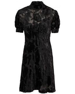 Black Devoré Dress