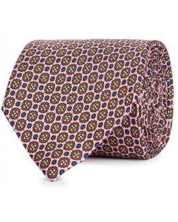 Floral-jacquard Silk Tie