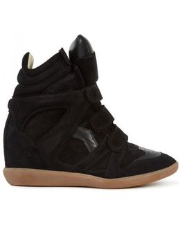 Bekket Suede and Leather Wedge Trainers