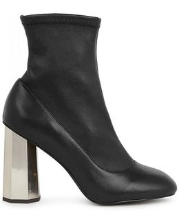 Umar Vii Black Leather Ankle Boots
