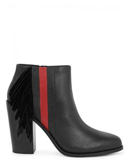 Winston I Black Leather Ankle Boots