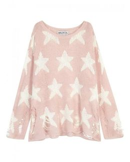 Seeing Stars Distressed Open-knit Jumper