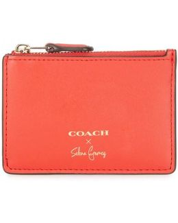 X Selena Gomez Red Leather Card Holder