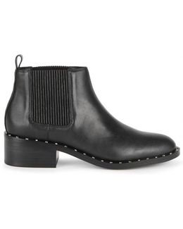 Darcy Stud-embellished Leather Chelsea Boots