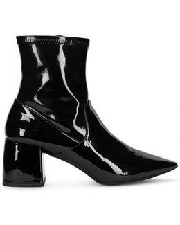 Simone Patent Leather Ankle Boots