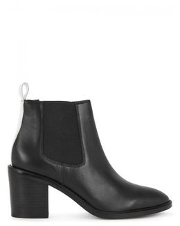 Martha Black Leather Chelsea Boots