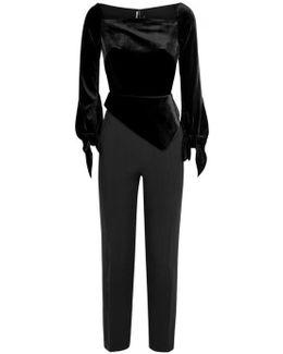 Rayleigh Black Velvet Jumpsuit