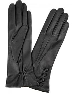 Evelyn Cashmere-lined Leather Gloves