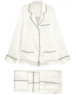Coco Bianca Ivory Silk Pyjama Set