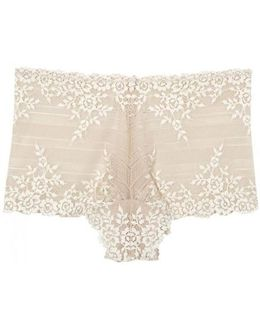 Embrace Nude Lace Boy Shorts