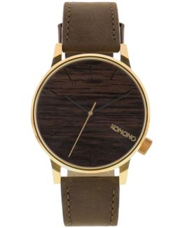 Gold Wood Winston Watch
