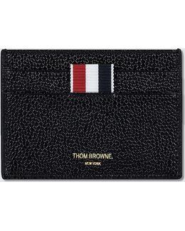 Pebble Grain Leather Single Card Holder