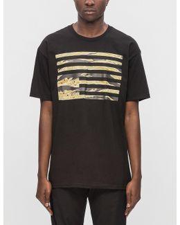Tiger Camo Rebel Flag S/s T-shirt
