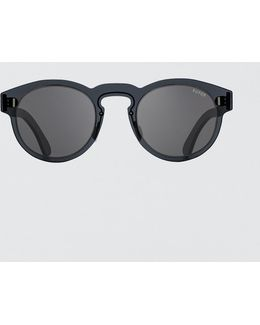 Duo-lens Paloma Silver & Black Sunglasses