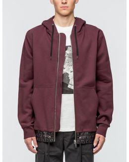 Langston Zip-up Hoodie With Nylon Waistband