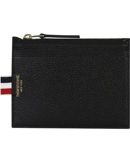 Leather Coin Pouch Wallet Black