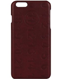 Iphone 6 Plus Maroon Leather Logo Moulded Case