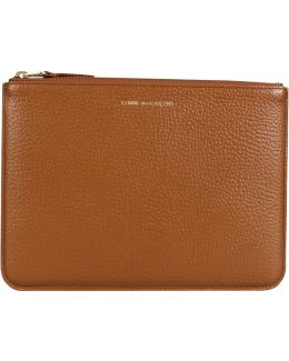Sa5100ic Textured Leather Pouch Brown