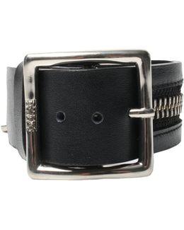 Zipper Buckle Bracelet Black