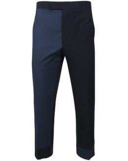 Seersucker Trousers Funmix Navy