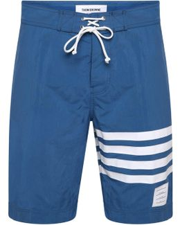 Bar Stripe Swim Shorts Blue