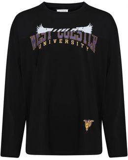 Oversized College T-shirt Black