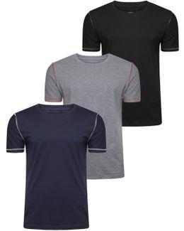 Stereotype Exposed Hem Three Pack T-shirt