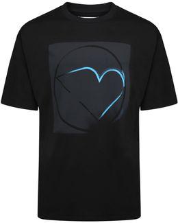 Oversized Graphic Box Print T-shirt Black