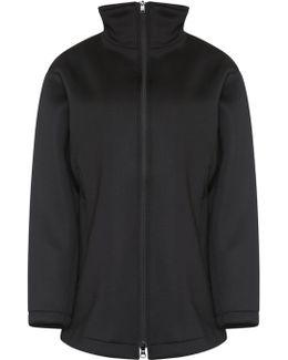 Oversized Track Zip Jacket Black