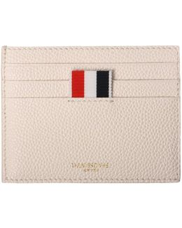 Textured Pebble Card Holder White