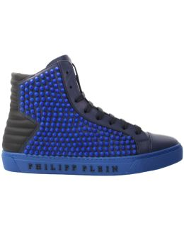 'loris' Hi-top Spike Sneakers Blue