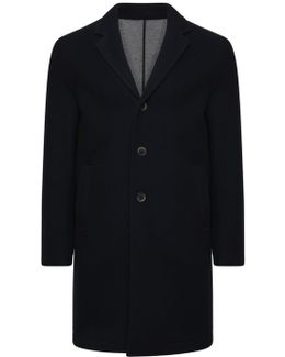 Button Up Over Coat Navy