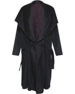 Wool Duster Coat Black