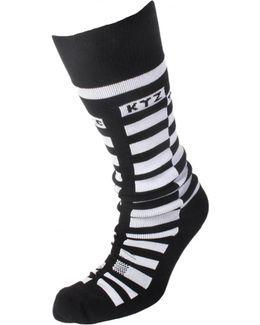 Checkerboard Logo Socks Black