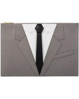 Suit Document Holder Wallet Grey