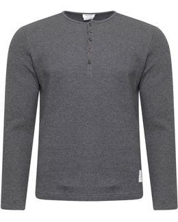 Thermal Henley T-shirt Dark Grey