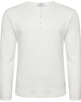 Thermal Henley T-shirt White