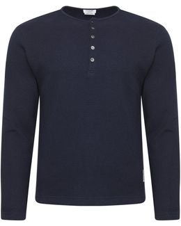 Thermal Henley T-shirt Navy