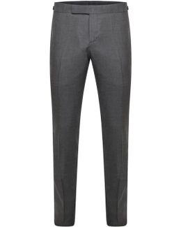 Skinny Side Tab Twill Trouser Grey