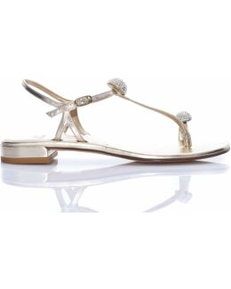 Ballsoffire Crystal Sandal In Gold