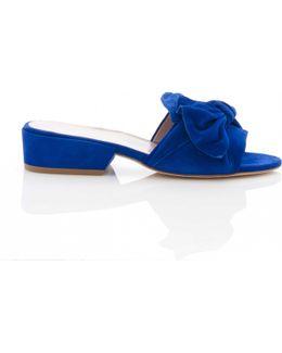 Giftwrap Mule In Electric Blue Suede
